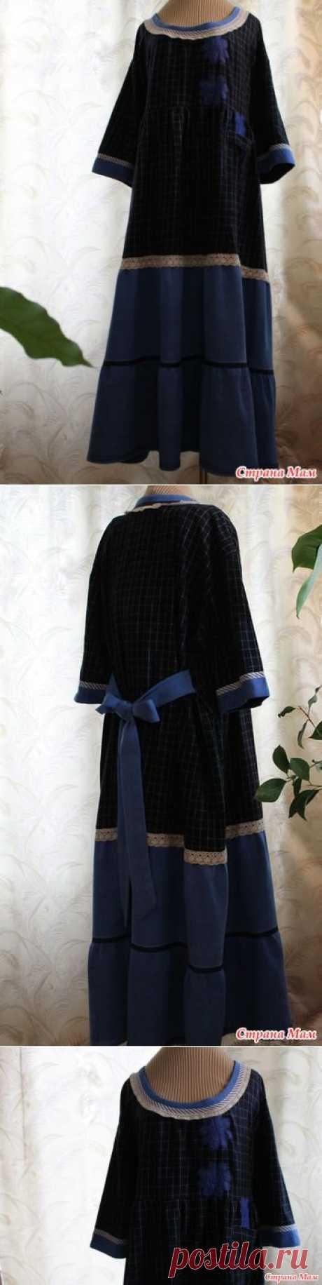 Домашнее платье 2. из мужской рубахи - Страна Мам