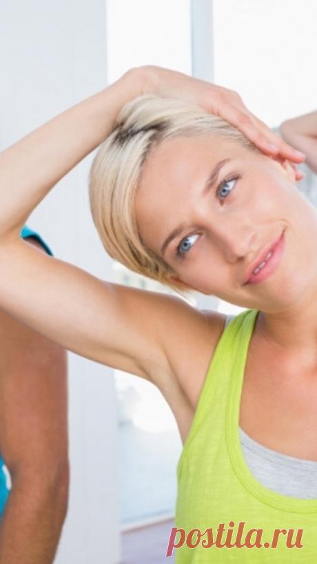 6 минутных упражнений для здоровья шеи. Шейный остеохондроз тихо уйдет… - Советы и Рецепты