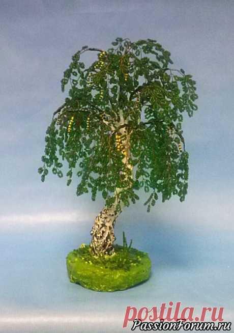 Сплелись ещё 2 дерева - запись пользователя busiki-bantiki (Наталья) в сообществе Бисер в категории Деревья из бисера: схемы, мастер классы