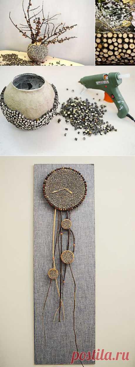 Декор из кусочков веток | Умелые ручки