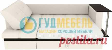 Диван угловой Атланта Вайт со столиком купить за 14690 руб. в интернет-магазине «Гуд Мебель»