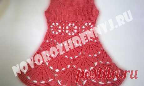 Летнее платье для девочки крючком - схема и мастер класс для начинающих   Уход за новорожденным