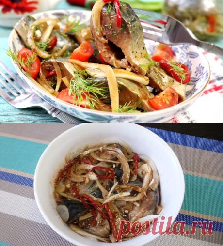 Скумбрия маринованная с овощами и соевым соусом, пошаговый рецепт с фото