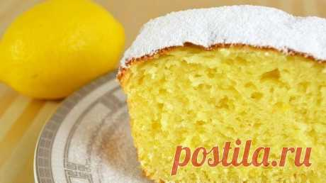 Творожный кекс с лимоном.