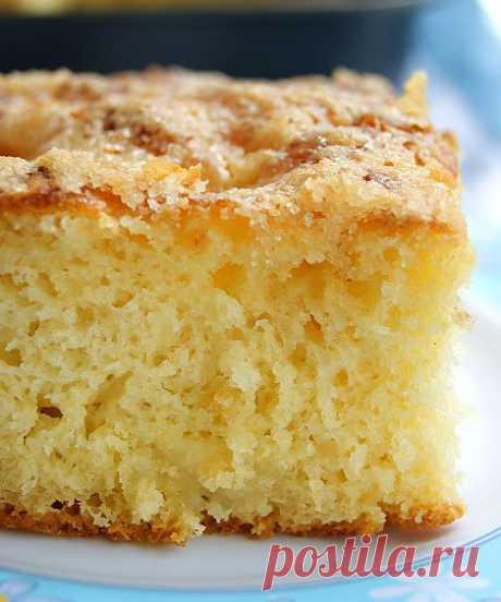 """Безумно вкусный и простой сахарный пирог """"Tarte au sucre""""."""