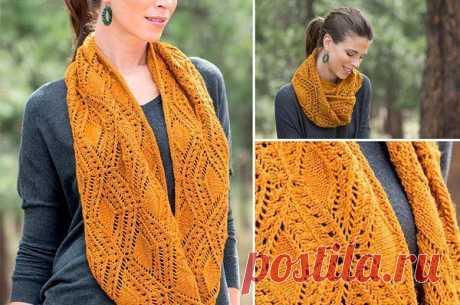 Симпатичный шарф, связанный спицами из категории Интересные идеи – Вязаные идеи, идеи для вязания