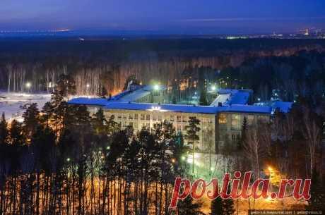 Вечерний Академгородок в Новосибирске