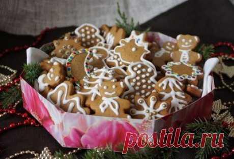 Печенье имбирно-коричное с глазурью - Печенье