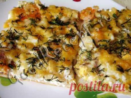 Хорошие рецепты - Пицца домашняя с морепродуктами