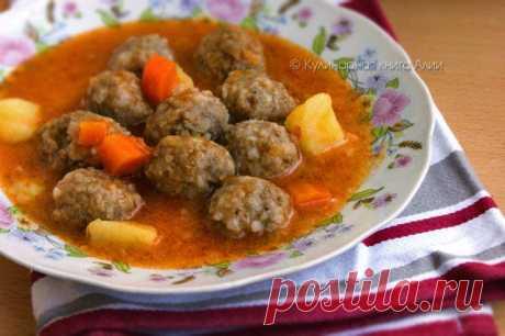 Фрикадельковый суп по-турецки (Sulu Köfte).