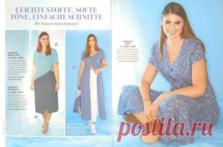 Идеи для шитья летних моделей Plus size.