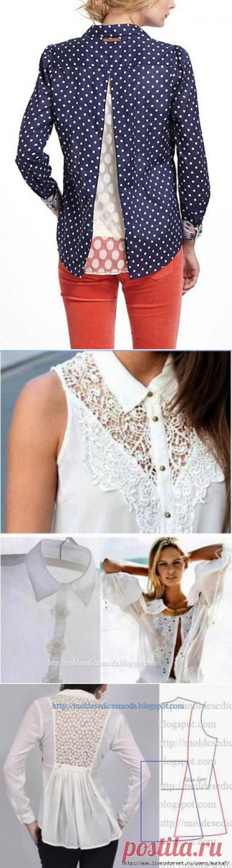 Переделка мужских рубашек в женственные блузы (Шитье и крой) | Журнал Вдохновение Рукодельницы