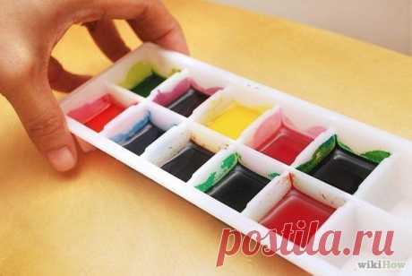 Как сделать акварельные краски. — Поделки с детьми