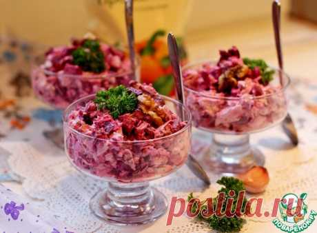 Салат со свеклой и курицей – кулинарный рецепт