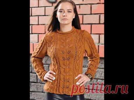 Модный Свитер для Девушки Спицами - образцы работ - 2019 / Fashion Knit Sweater