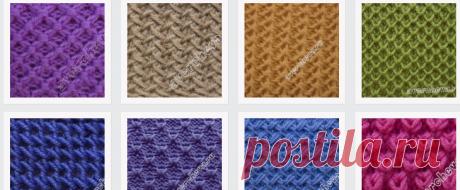 плотные переплетения, необычные вязки  каталог вязаных спицами узоров