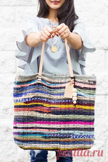 Идея: сумка-шопер из коврика за полчаса — Мастер-классы на BurdaStyle.ru