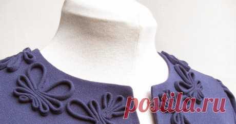 Декор из вытачного шнура     Отделка из декоративного вытачного шнура может стать настоящим украшение вашего изделия . И большая прелесть в том , что вам не потребу...