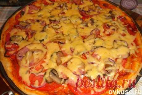Пицца на тонком тесте - Простые рецепты Овкусе.ру