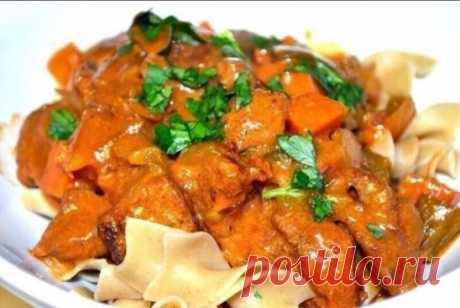 Chicken fillet goulash