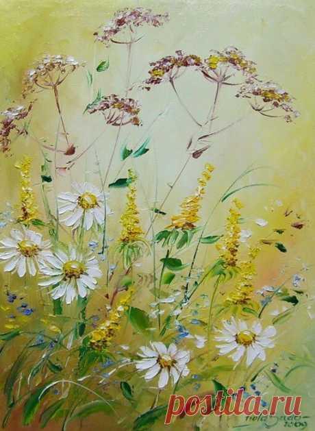 Цветочные полянки от художницы Viola Sado.