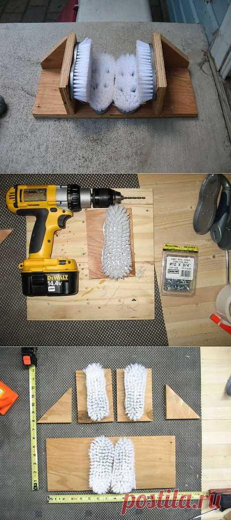 Как сделать устройство для чистки обуви / KNITLY.com - блог о рукоделии