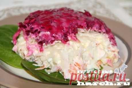 Любимейший овощной салат-торт «Метелица»