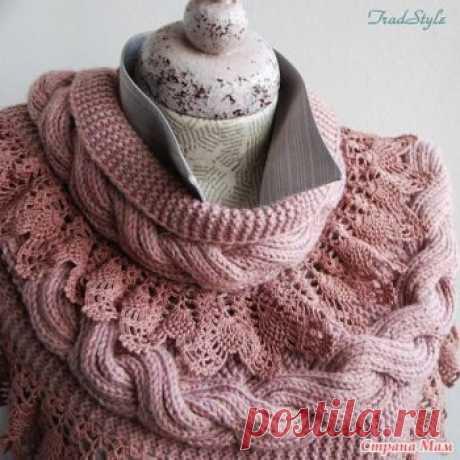 Как связать красивый шарф-снуд - Все своими руками