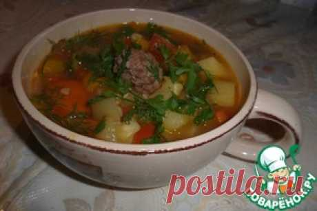 """Густой суп """"Летний экстаз"""" с фрикадельками - кулинарный рецепт"""