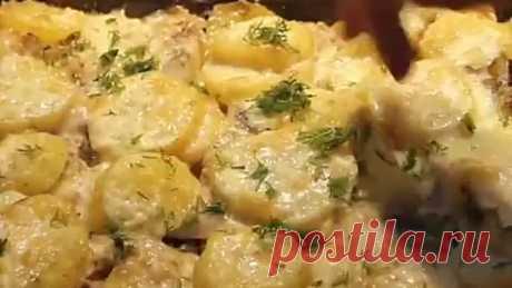 Рыба в молоке с картошкой в духовке