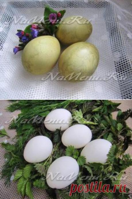 Как покрасить яйца крапивой к Пасхе