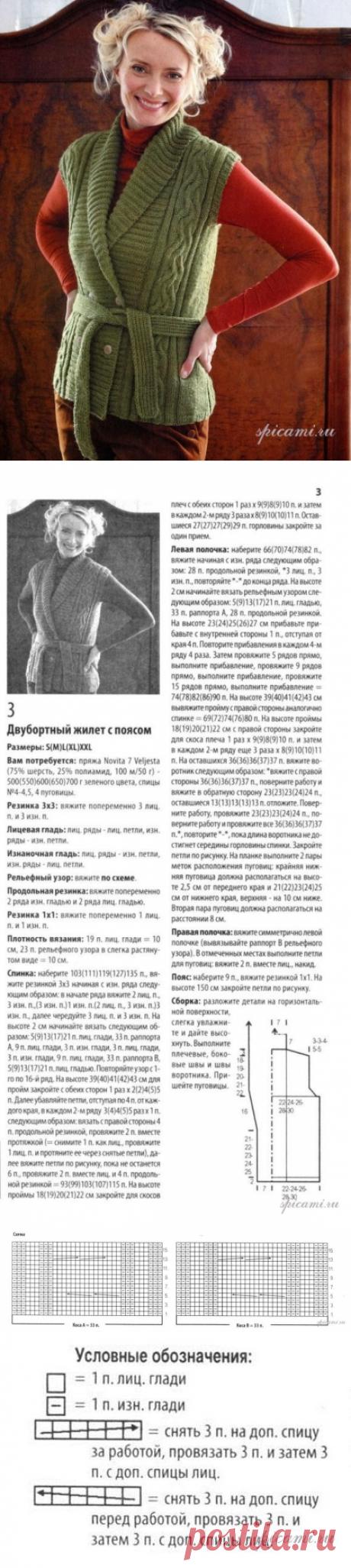 безрукавки, жилеты и топы спицами | Дневник Иримед - Part 5
