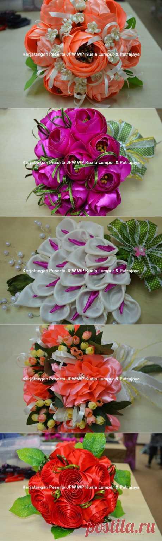 Цветы из ткани. Новые работы от Suzana Mustafa.