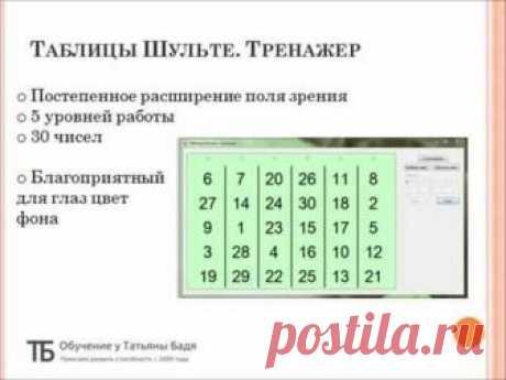 Таблицы Шульте - инструкция по использованию