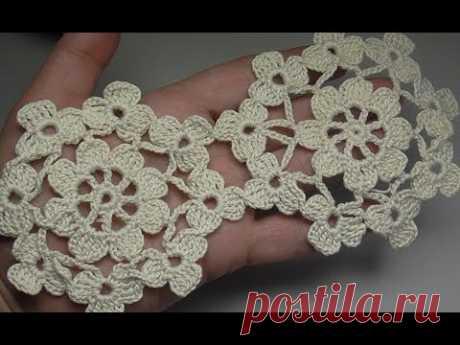 Lacy flower miracle miracle Кружевной цветочный мотив крючком - YouTube