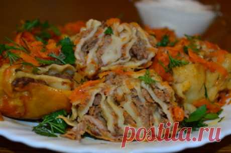 Розочки с мясом - быстрое сытное блюдо для семьи рецепт с фото