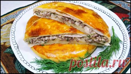 Приготовила тонкие пироги-лепешки с мясом и сыром - простой и вкусный рецепт!
