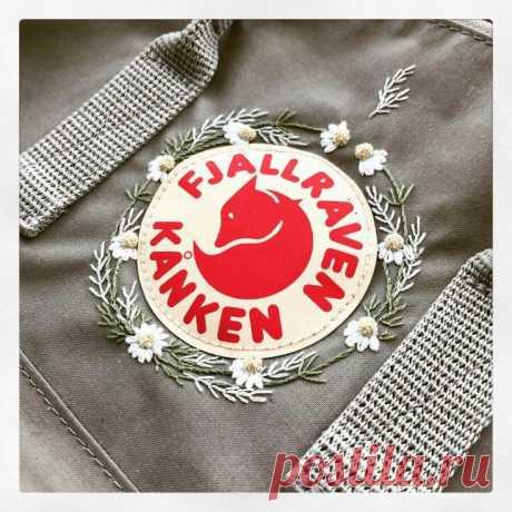 Вышивка рюкзака kanken Модная одежда и дизайн интерьера своими руками