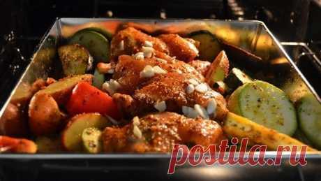 Куриные бедра с овощами в духовке – пошаговый рецепт с фотографиями