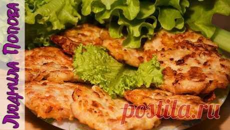 Los buñuelos rublennye de la pechuga de pollo con el queso