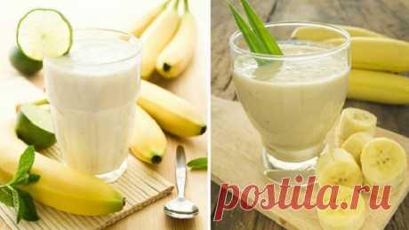 Этот вкусный банановый напиток может быстро сжечь висцелярный жир! - Советы для тебя