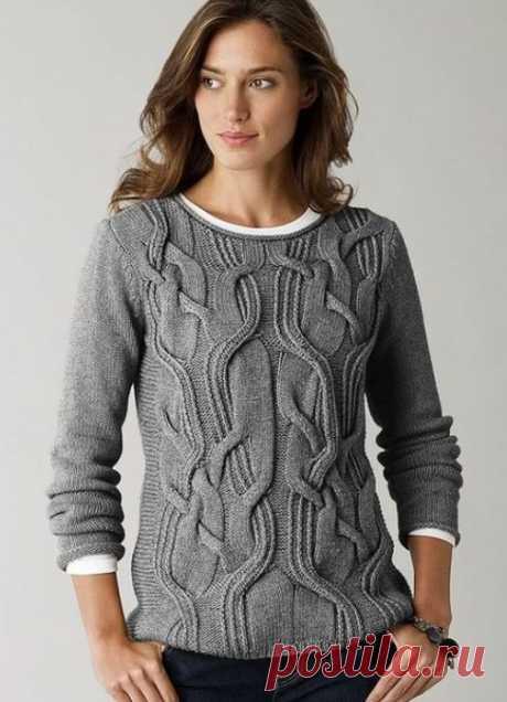 Необычный узор для пуловера