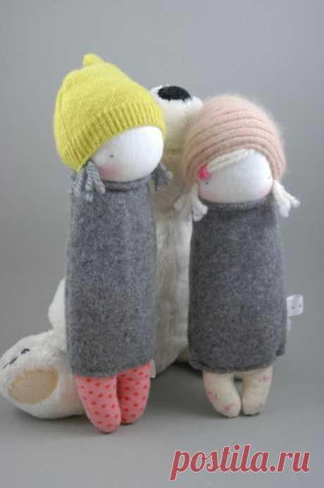 Куколки из носков. Идеи для вдохновения