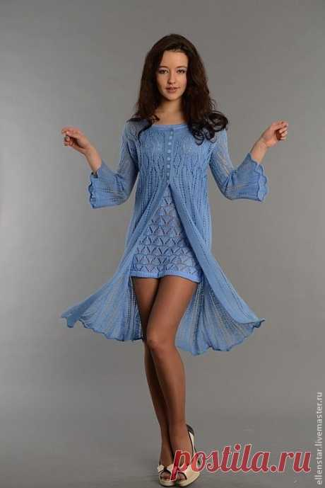 Платье и кардиган спицами