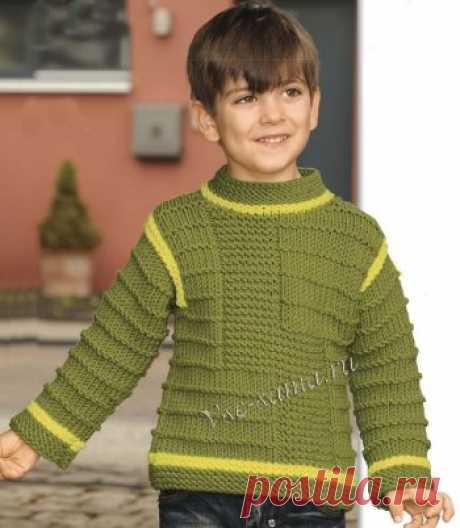 Пуловер со структурным узором для мальчика