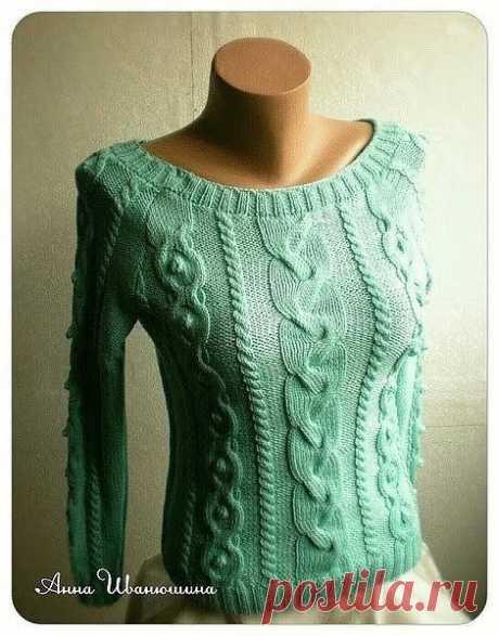 Вяжем стильный пуловер. Подборка схем.