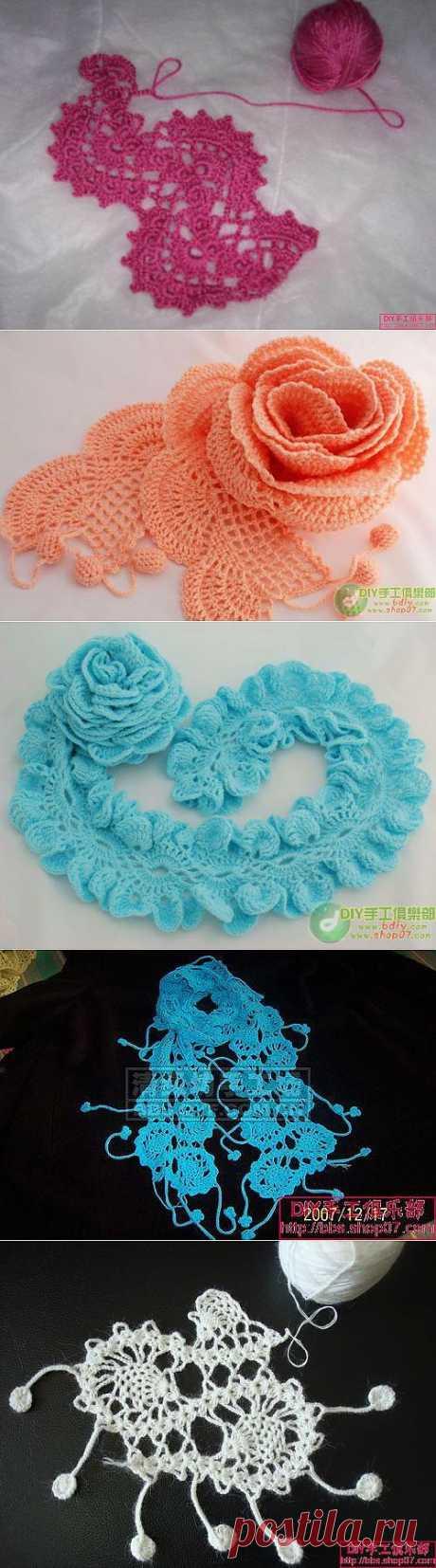 Кружевные шарфики или кружевная отделка (Китай).