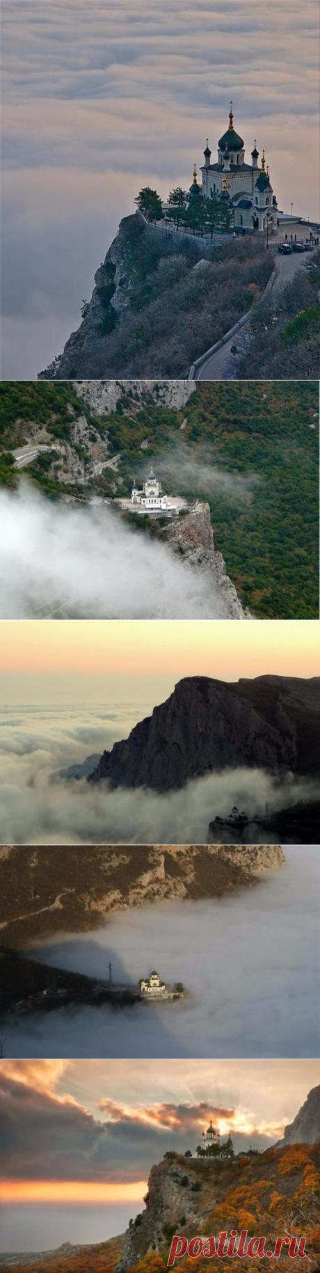 (+2) Форосская церковь — жемчужина Крыма на возвышении Красной скалы
