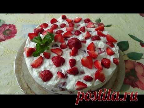 Yogurtovo strawberry cake