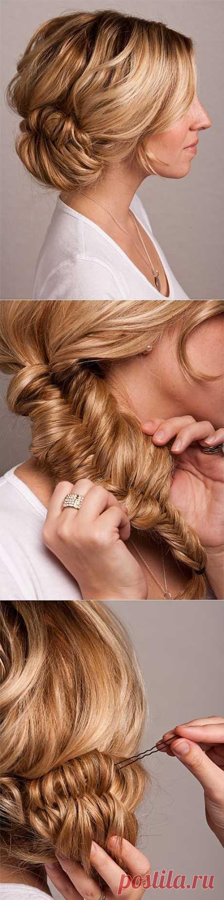 Пучок из косы (мастер-класс) / Прически / Модный сайт о стильной переделке одежды и интерьера